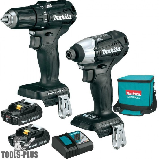 Combo de 2‑Piezas. Inalámbricas CX200RB LXT® Litio‑Ion de 18V Makita (2.0Ah)