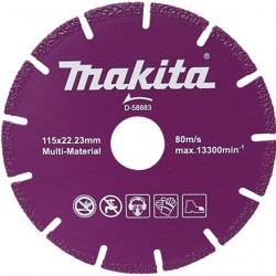 Disco Multimateriales Makita  MODELO - D-58883